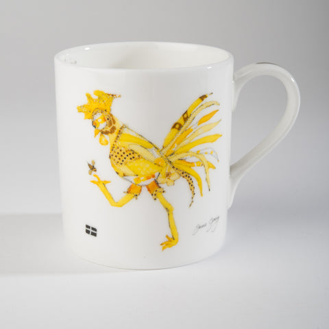 "Limited  Edition China Mug (004) by Lady Jane Gray - Humorous Yellow Chicken ""Tina"""