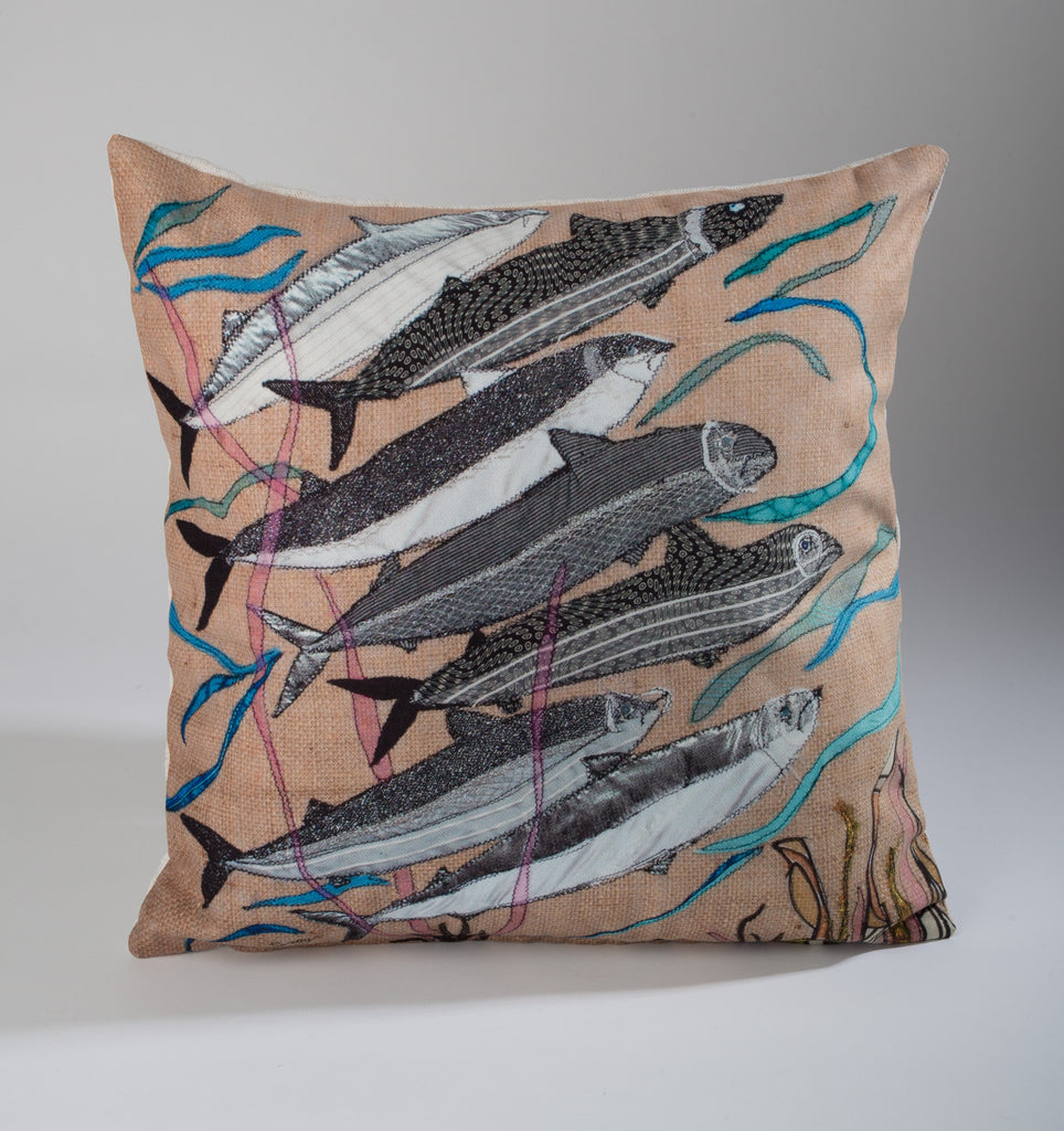"Limited  Edition Designer Cushion (005) by Lady Jane Gray - Fish ""SaveOurSeas"""