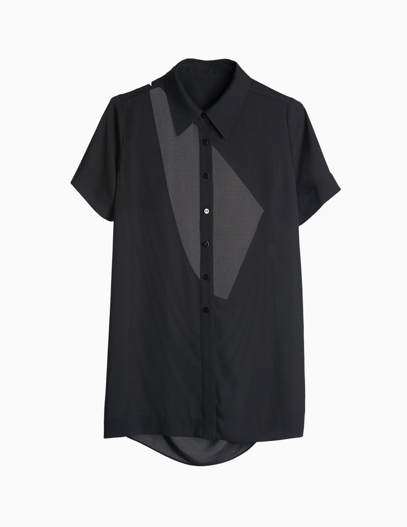 BUTTONDOWN CUTOUT BACK SHIRT