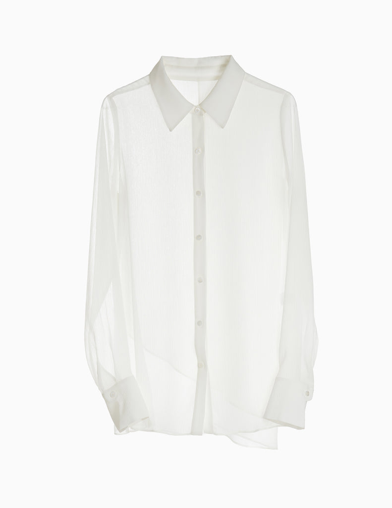SHEER BUTTONDOWN SHIRT
