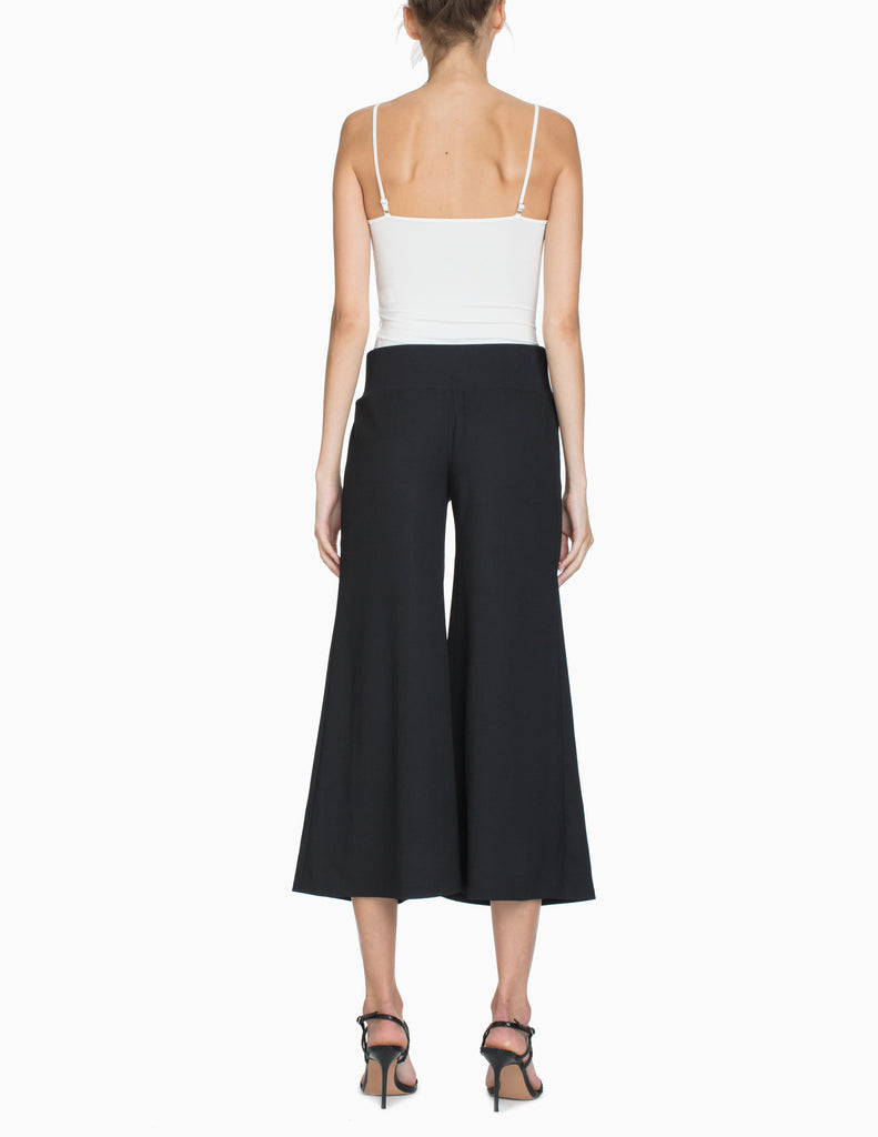 BASKETWEAVE WIDE LEGGED CULOTTES