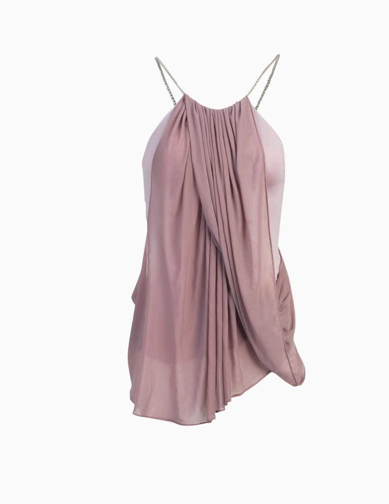 Halter Drape Chain Top