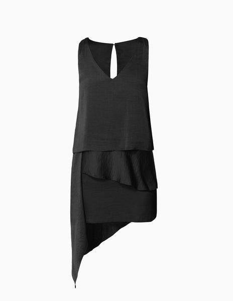 Layered Asymmetrical Hem Dress