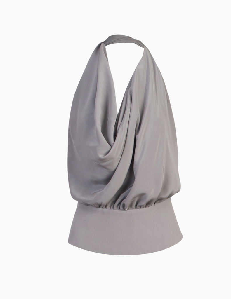Cowl Draped Halter Top