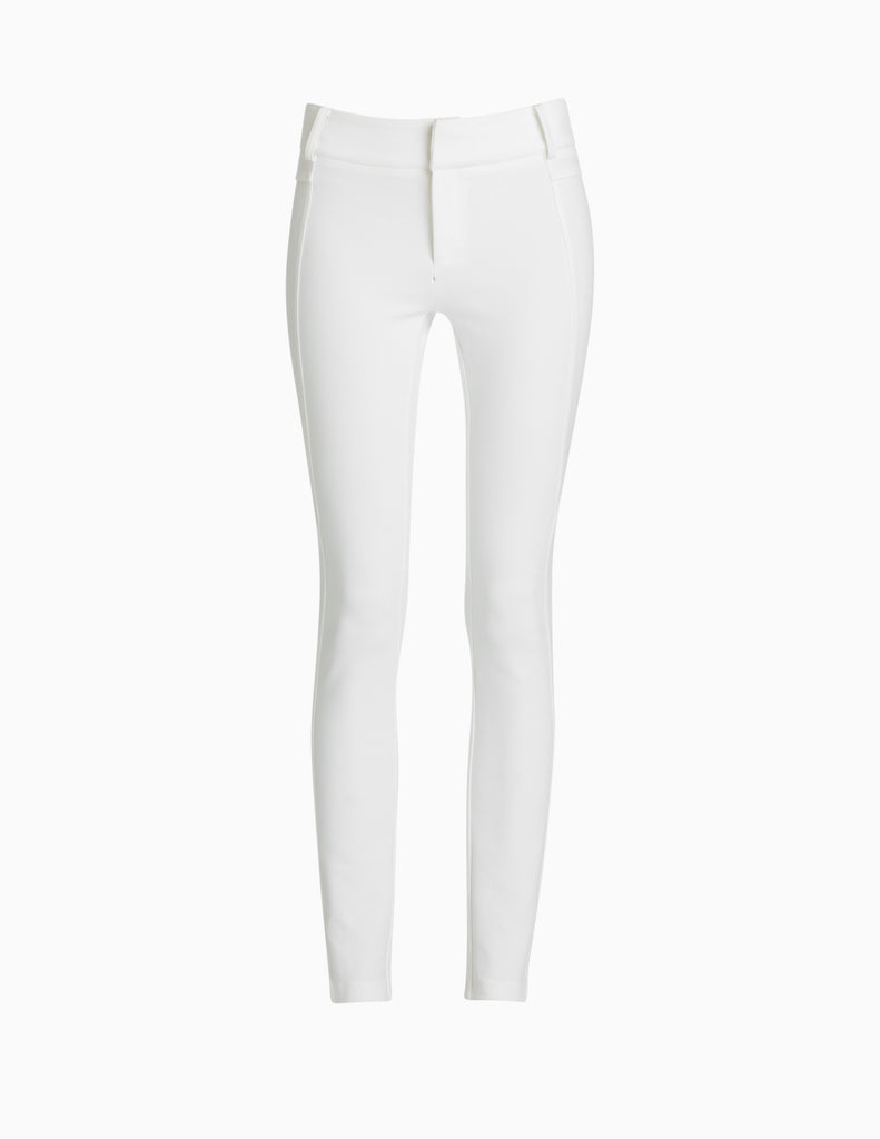 SEAMED JERSEY SKINNY PANTS