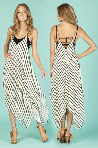 Striped Corners Dress