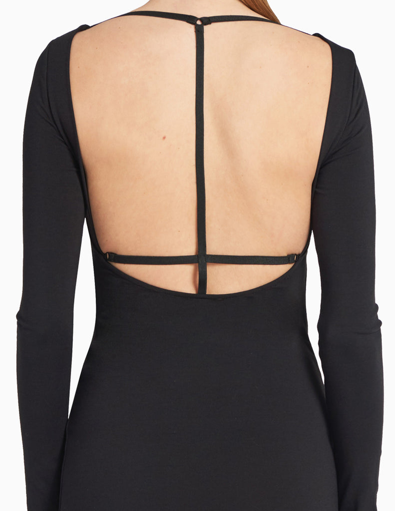 BODYCON T-CUTOUT BACK DRESS