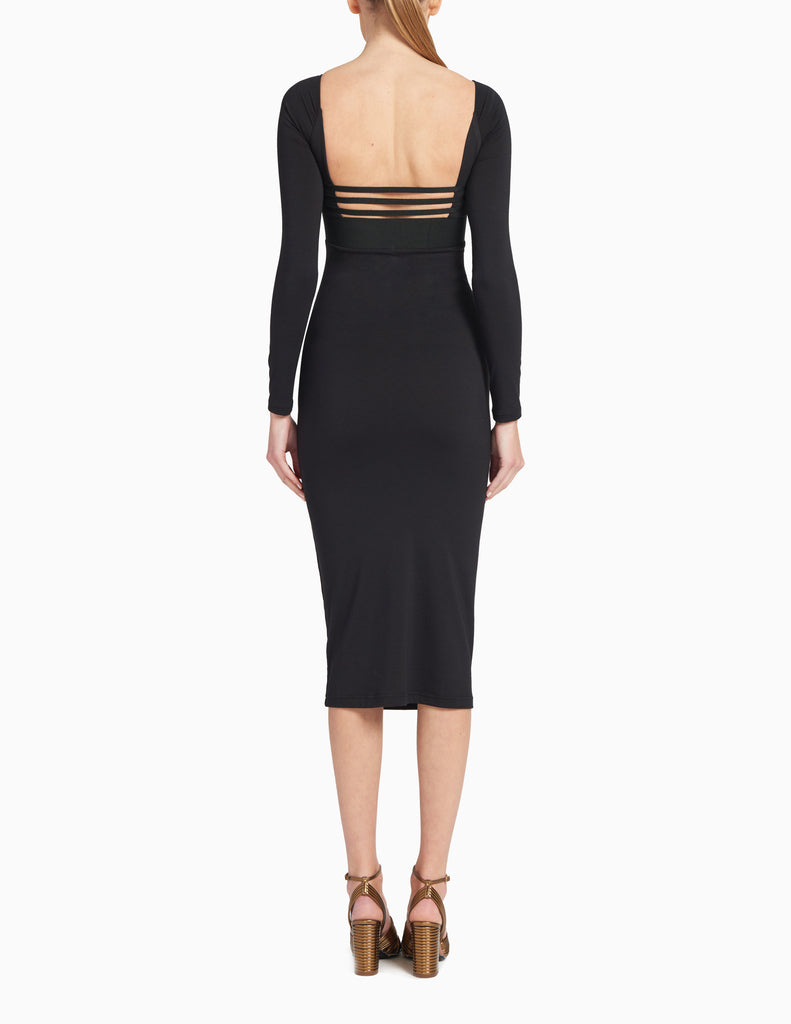 BODYCON CAGED BACK DRESS