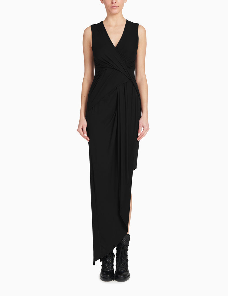 Twist Drape Jersey Dress