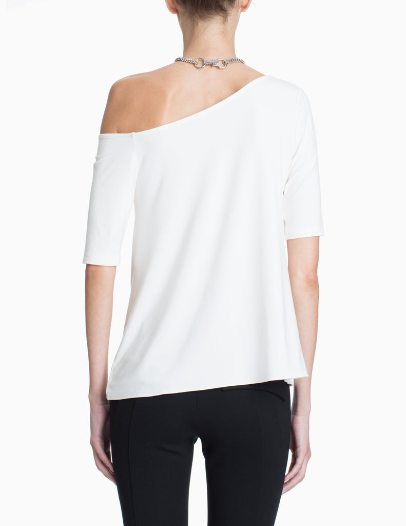 HALTER CHAIN COLD SHOULDER TOP