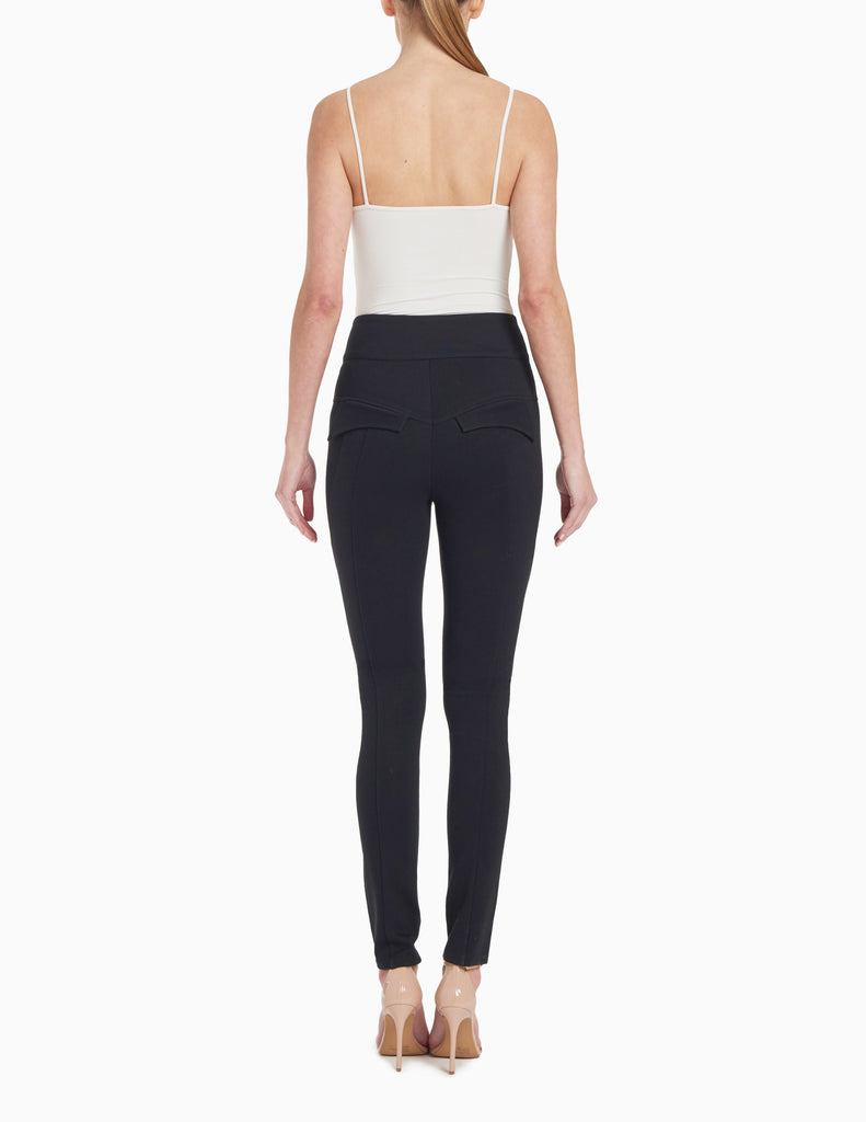 HIGH WAISTED SEAMED JERSEY SKINNY PANT
