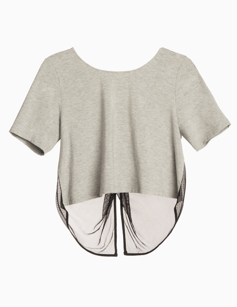 Elbow Sleeve Tulip Back Top