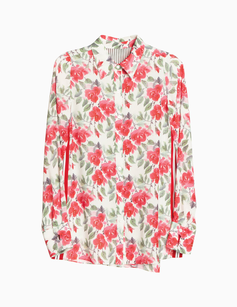 Floral Overlay Buttondown