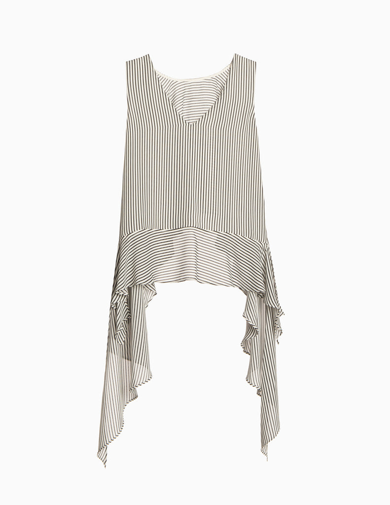 Stripe Two Way Hi-Lo Tier Top