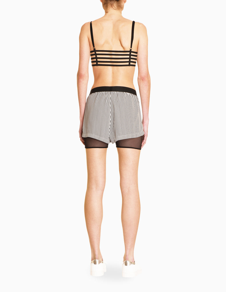 Stripe Mesh Shorts