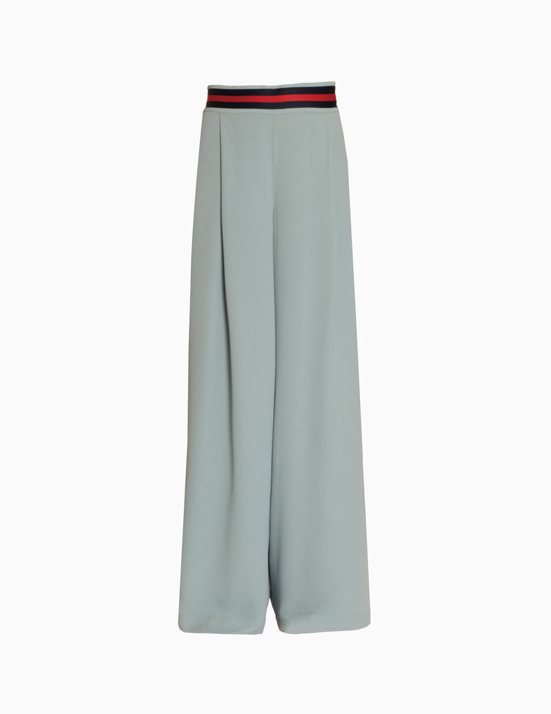 Seamless Pleated Crepe Wide Leg Pants