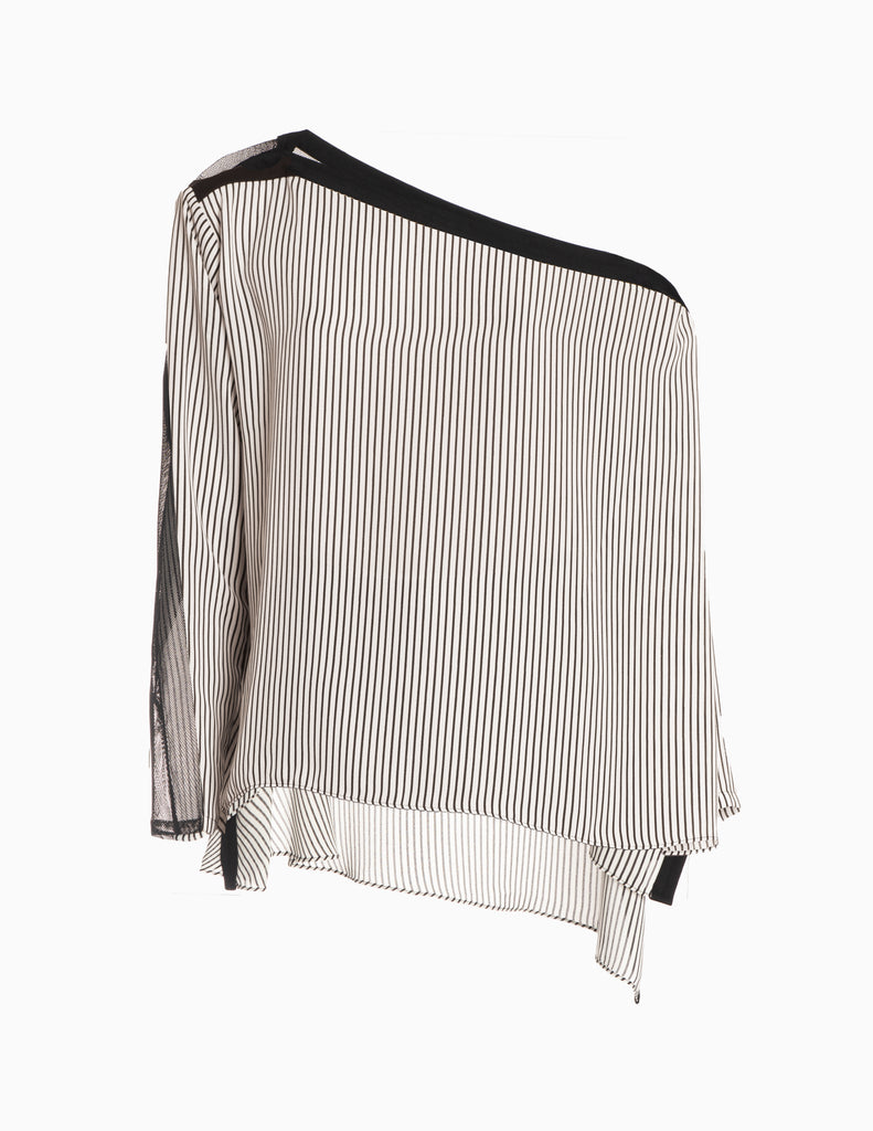 Multi-way Stripe Mesh Long Sleeve