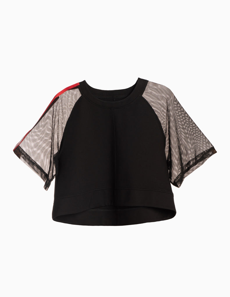 Mesh Ribbon Box Crop Top