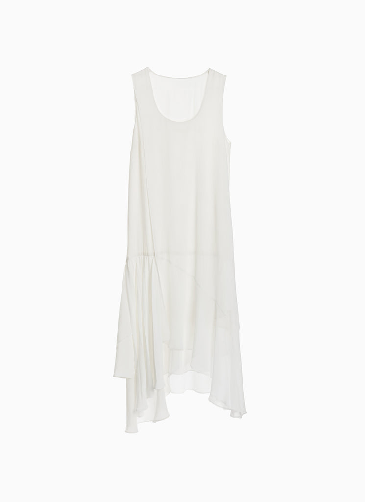 SLEEVELESS LAYERED PLEATED DRESS