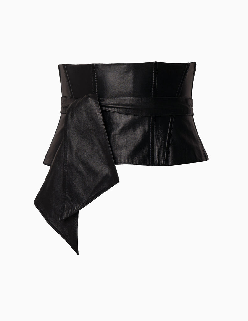 WIDE LEATHER CORSET BELT