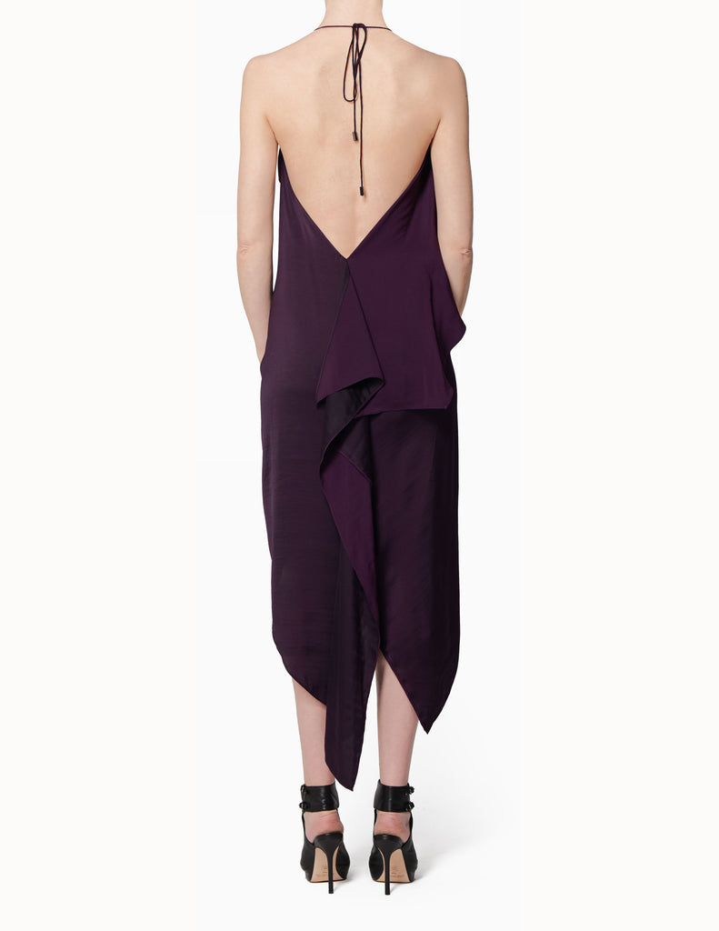 Halter Tie Drape Dress