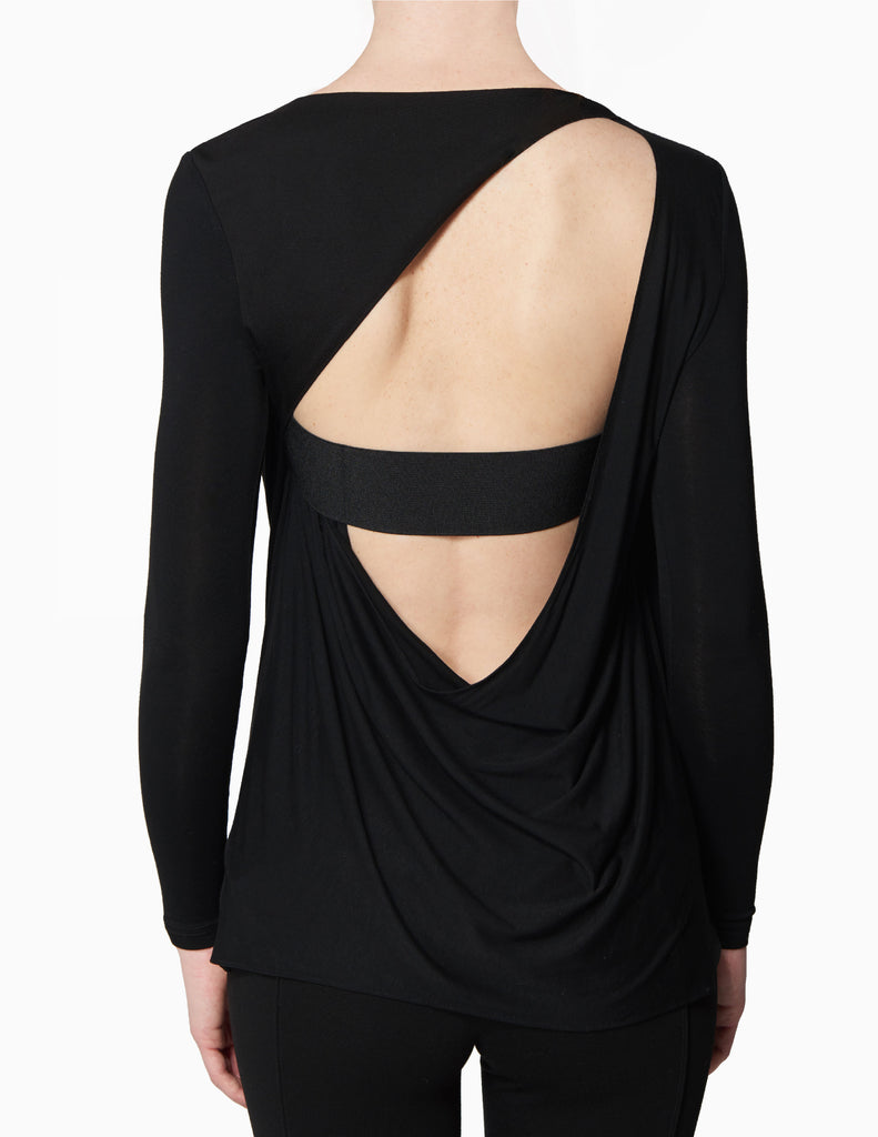 Cowl Open Cutout Back Top