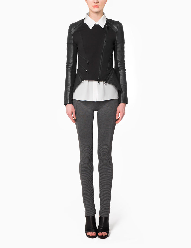 Piped panelled Moto Pants
