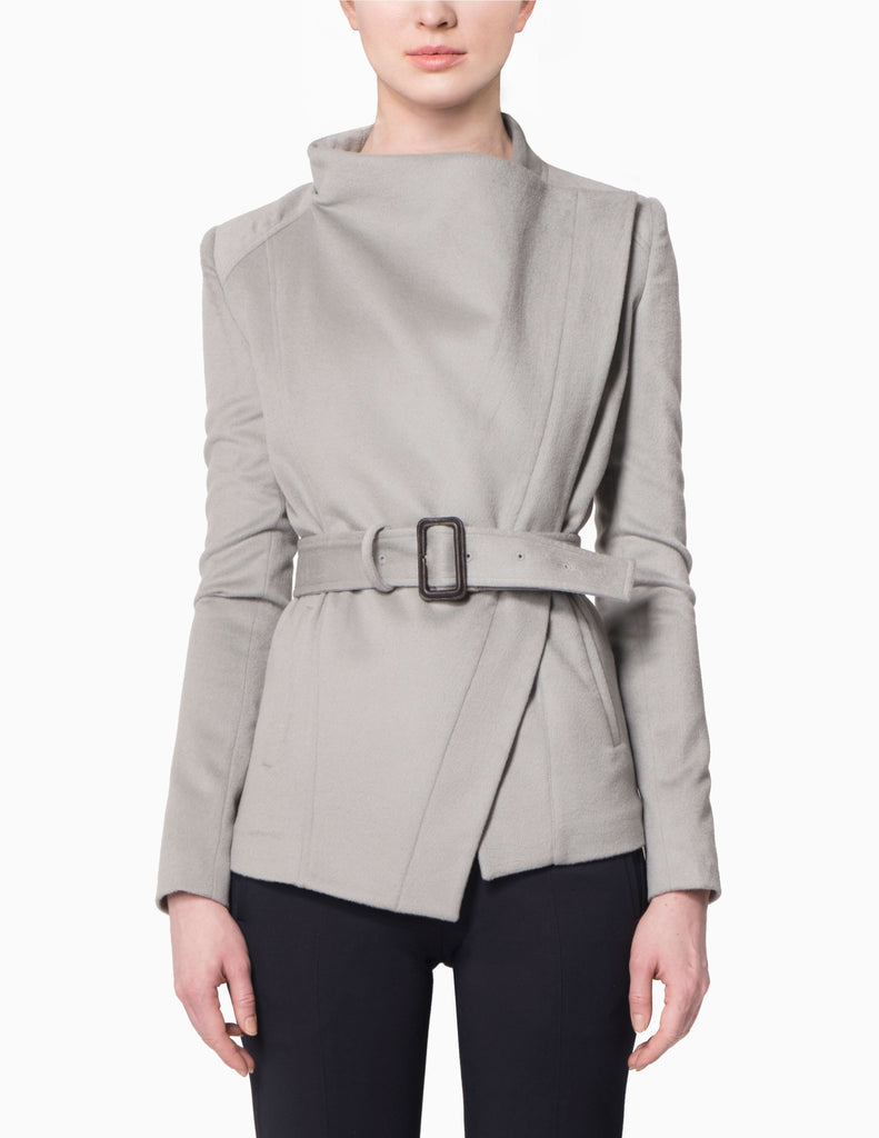 Asymmetrical Belted Jacket