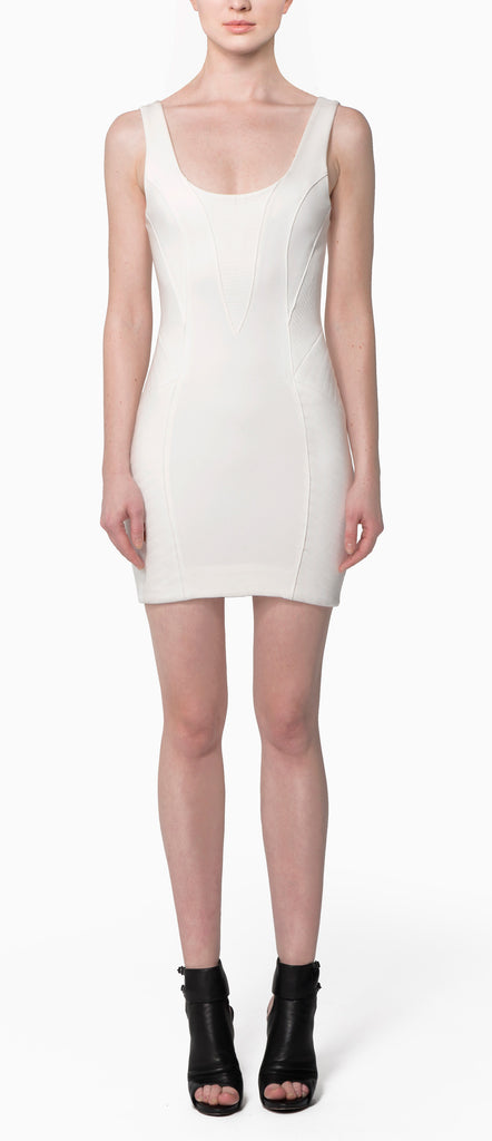 Sleeveless Piped Panel Dress