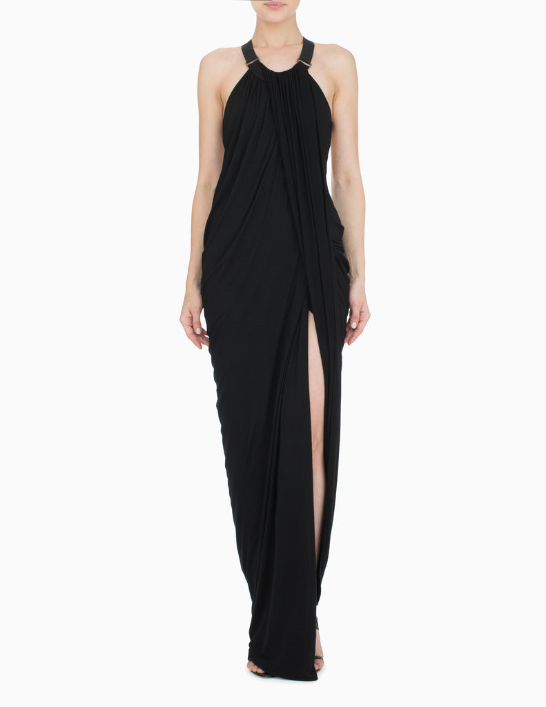 Halter Draped Gown
