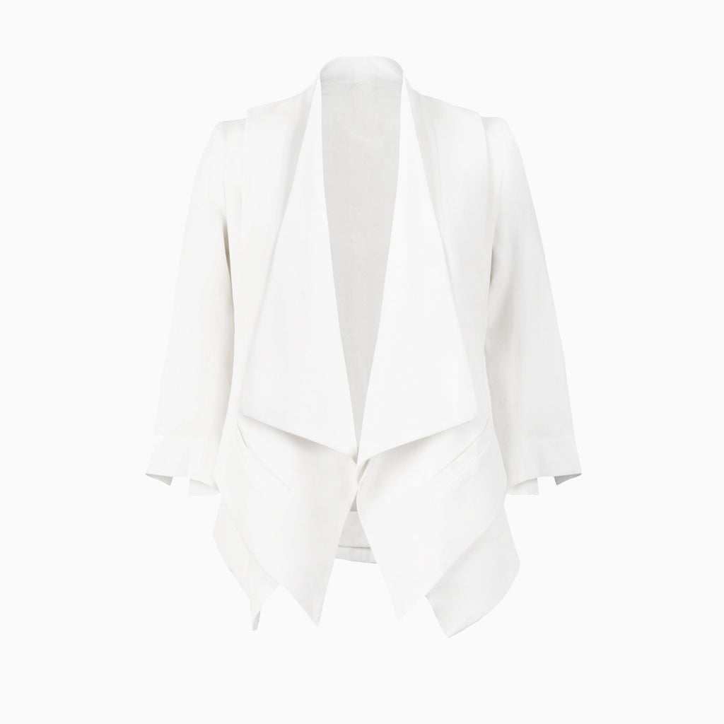 Double Lapel Silk Jacket