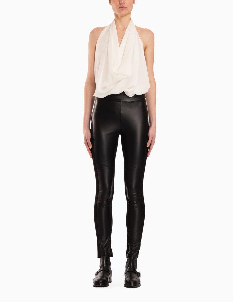 High Waisted Leather Pants