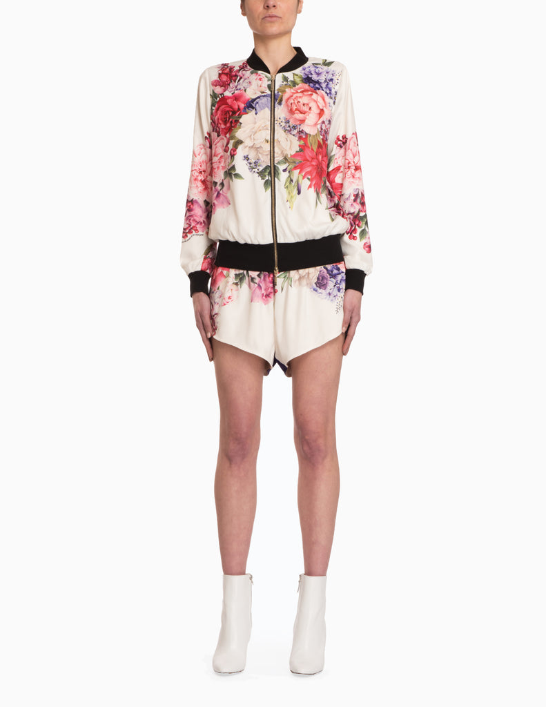 Flower Silky Shorts