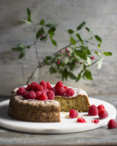 Pistachio, Raspberry and Rose