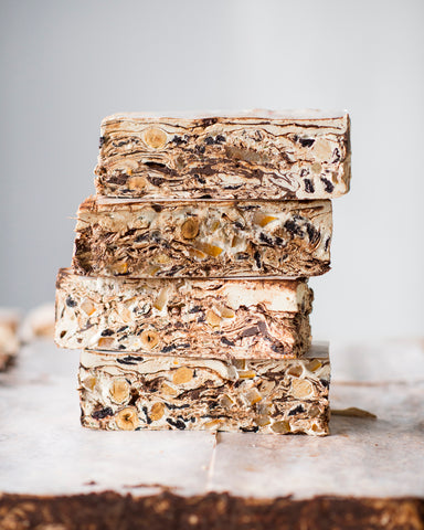 Sour Cherry, Hazelnut and Dark Chocolate Nougat