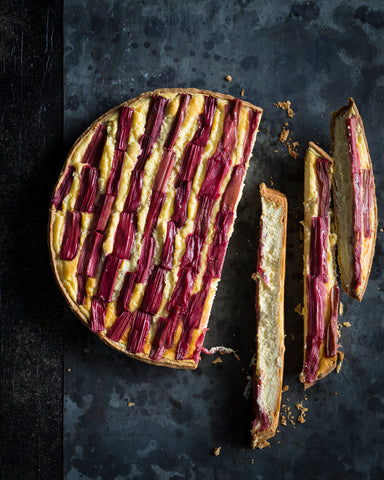 Rhubarb and Ricotta Tart