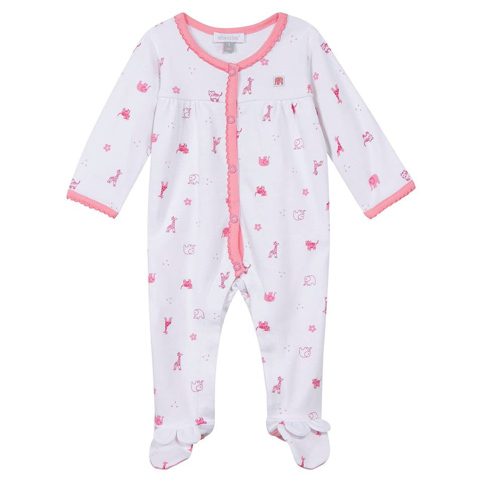 Pink Jungle Animals Babygrow