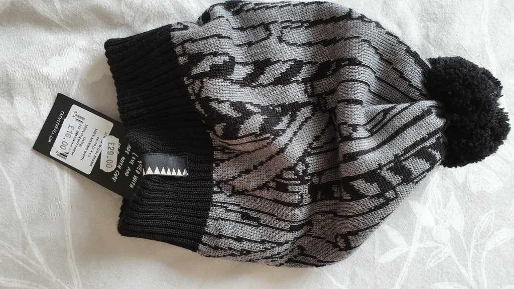 PAPU - Wool Bean, Black & grey