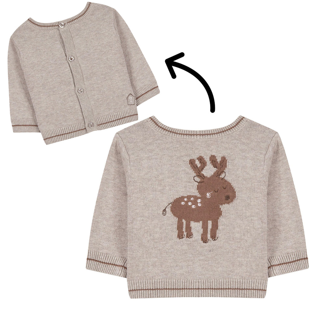Baby & Toddler 2 in 1 Knitted Jumper With Deer