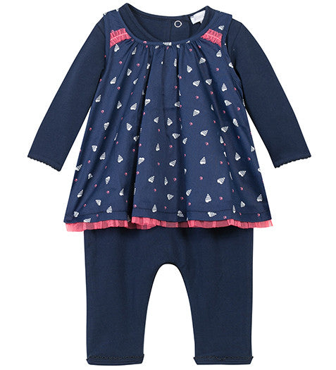 Absorba - Baby Girls Blue All In One With Dress