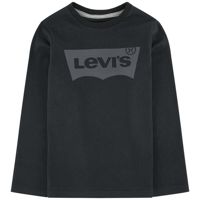 Levi's Logo Long Sleeved T-Shirt In Black, 4y