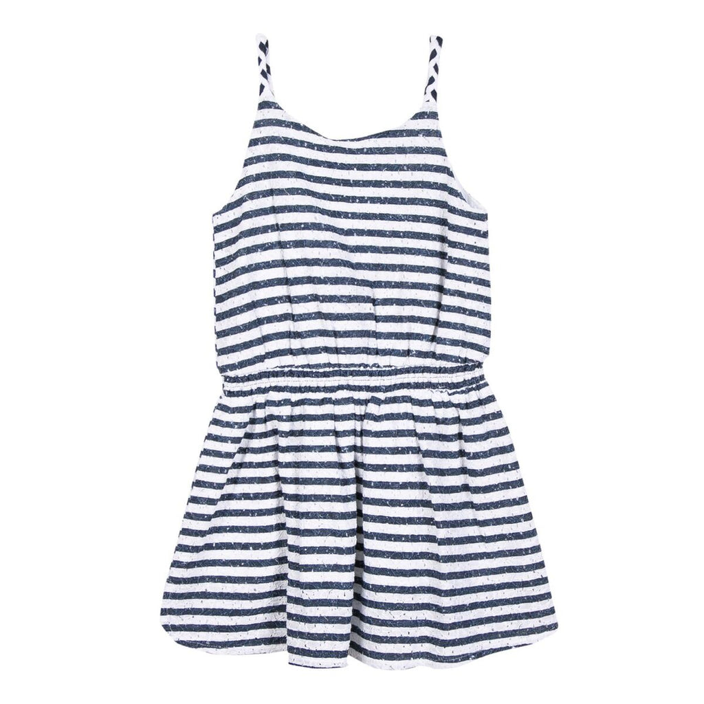 Girls Navy & White Stripe Dress