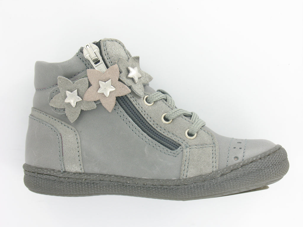 Girls Grey Leather Hi-Top Style Boot by Primigi