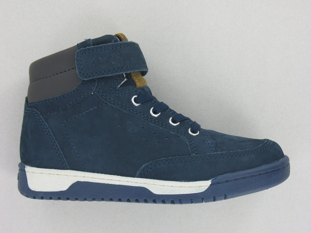 Boys High-Top Trainer In Navy Nubuck