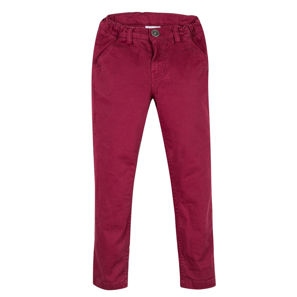 3 Pommes - Dark Red Chino Trousers