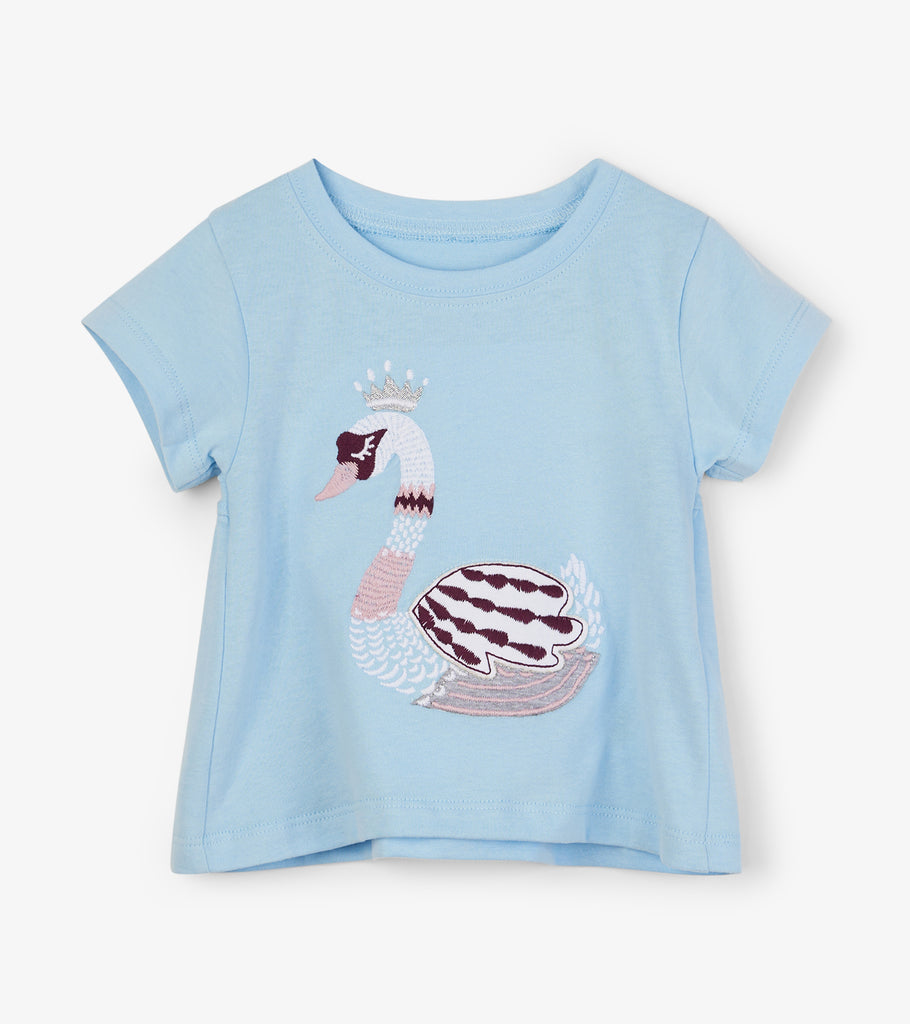 Hatley - Swan Princess Baby and Toddler T-Shirt, 3-6 & 6-9m