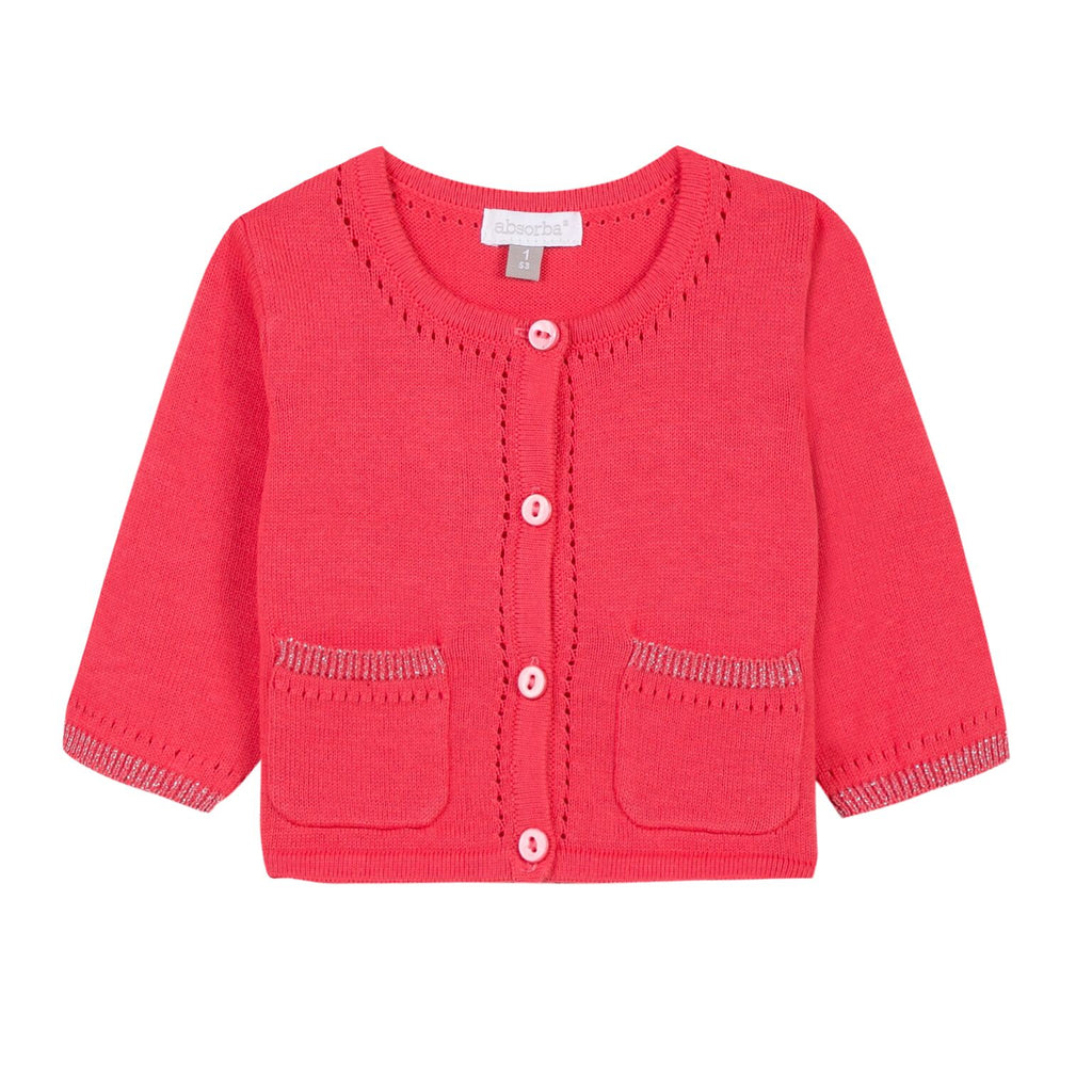 Brick Red Knitted Cardigan