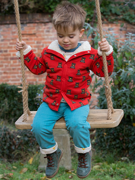 'Mountain Bear' Reversible Sherpa jacket from Little Green Radicals
