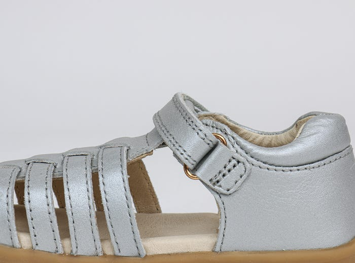 Bobux 'Jump' Sandal in Silver - I-Walk - Podiatrist approved