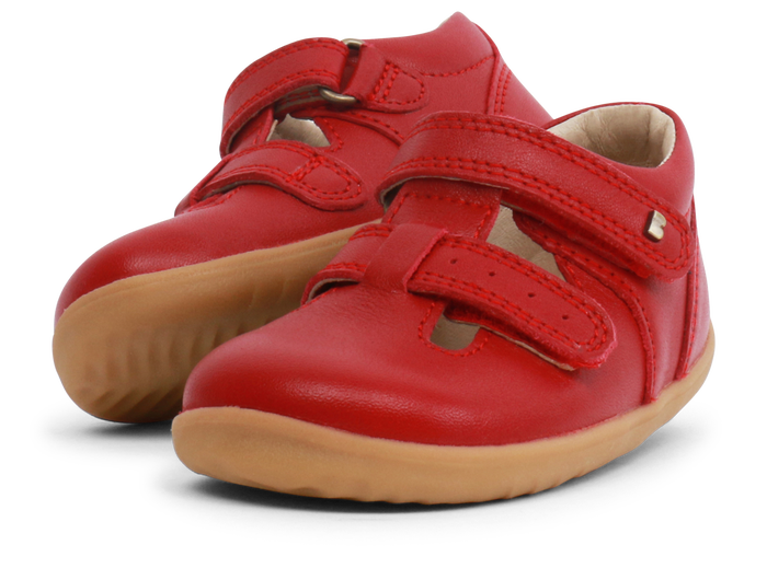 Bobux 'Jack & Jill' unisex shoe in Rio Red leather